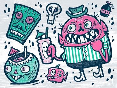 Tiki Creeps sketchbook sketch applepencil ipadpro procreate illustration
