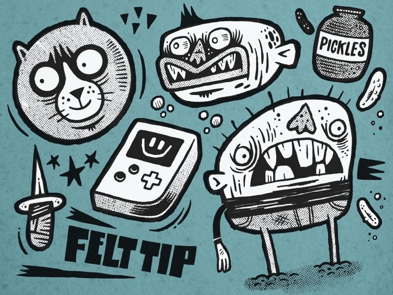 Felt Tip v1.0 - Free! Procreate Brush freebie free procreatebrush procreate illustration