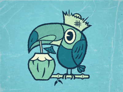 Tiki Toucan tiki bar tikiart tiki ipad applepencil ipadpro procreate illustration