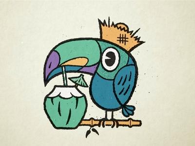 Tiki Toucan - Different Coloring sketch applepencil ipadpro procreate illustration