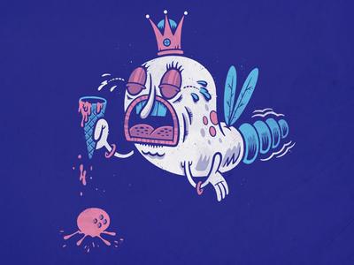 Royal Screw Up illustration procreate ice cream firefly