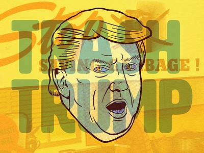 Trash Trump ipadpro procreate illustration