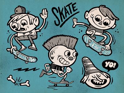 Skate skateboarding skateboard procreate illustration