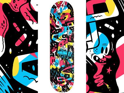 Headache - Skateboard Deck applepencil ipadpro procreate illustration skateboard deck skateboard
