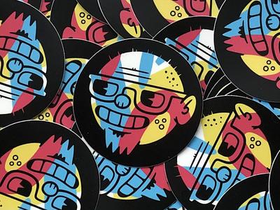 New Stickers logo design illustration