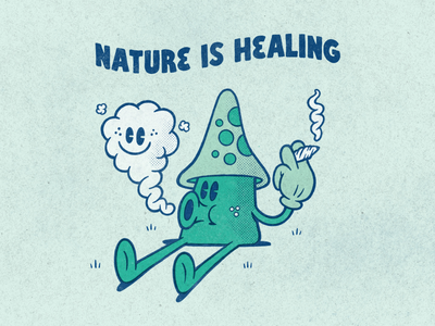Nature is Healing sketchbook sketch applepencil ipadpro procreate illustration