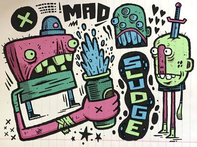 Mad Sludge sketchbook sketch applepencil ipadpro procreate illustration