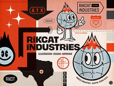 Ri Brand mascot brand design branding illustration