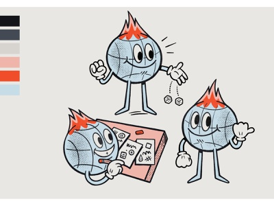 RI Mascot retroillustration retro mascot sketchbook sketch applepencil ipadpro procreate illustration