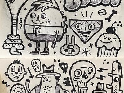 Sketchbook markers pen doodles sketchbook sketch