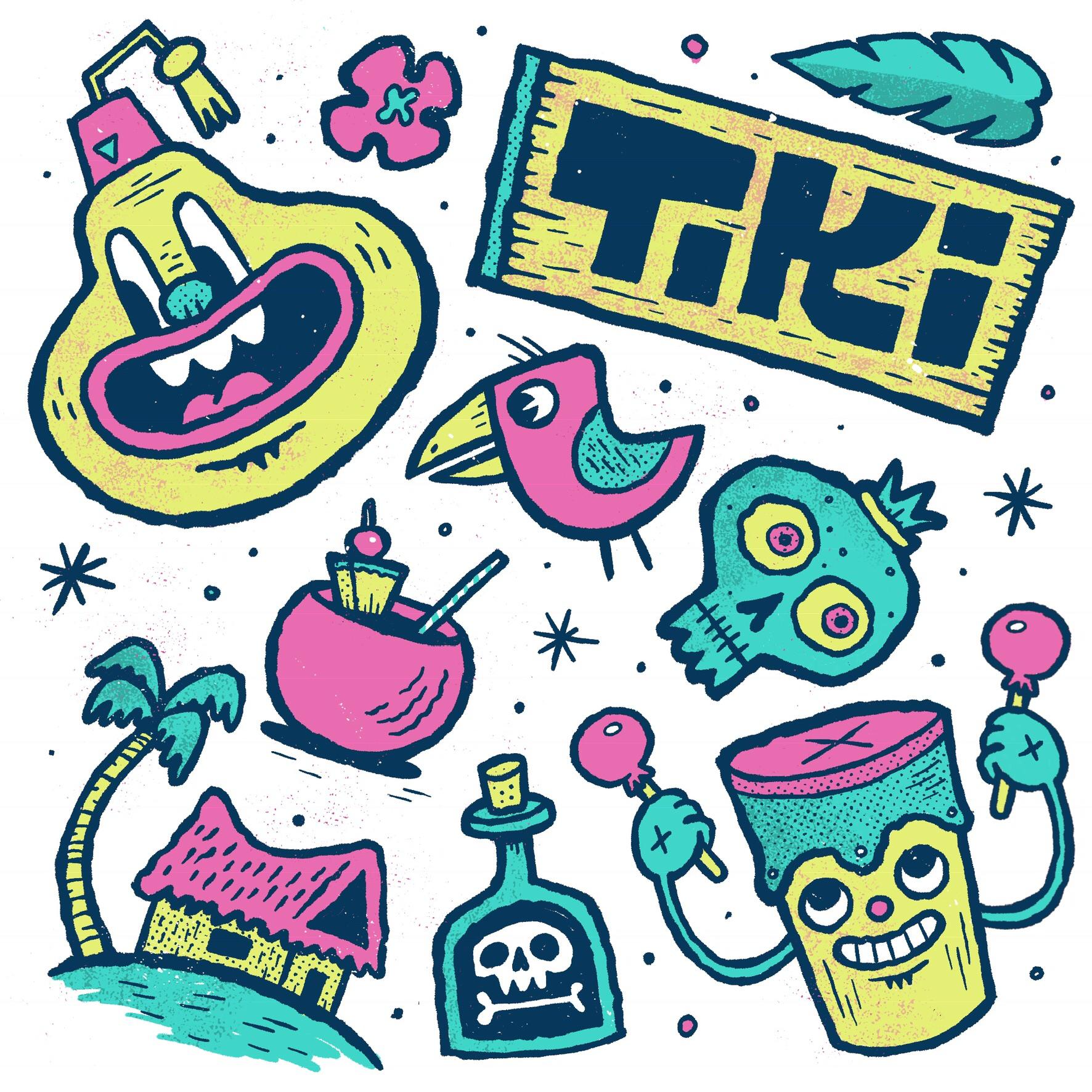 Tiki Randoms procreate illustration tiki