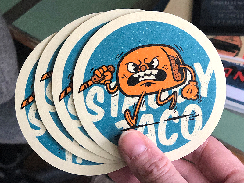 Stabby Tacos Coasters coasters illustration