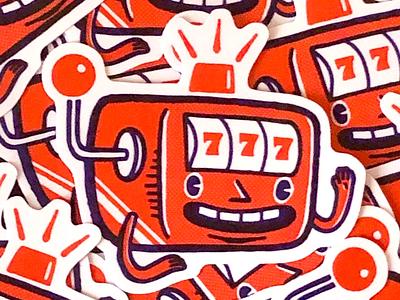 Jackpot! stickers procreate illustration