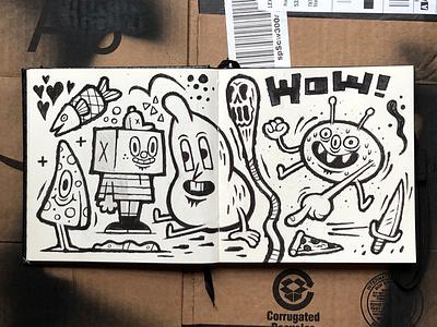 Sketchbook markers sketchbook sketch illustration