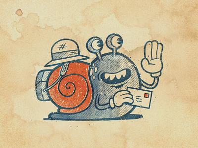 Snail Mail in Procreate procreate sketch applepencil ipadpro illustration