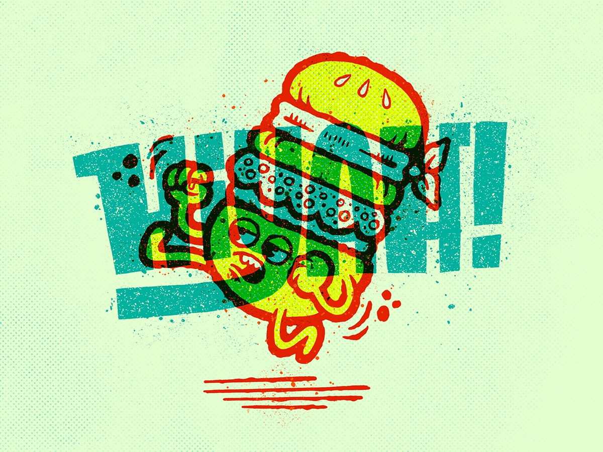 Karate Burger - Hiyah! sketch applepencil ipadpro procreate illustration