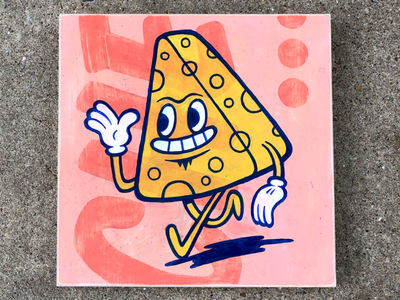 Cheesy acrylic painting