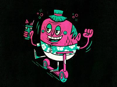 Tiki & Scootering procreate illustration