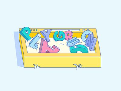 Playground sand website browser sandbox letters playground