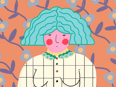 A woman grid texture pattern woman