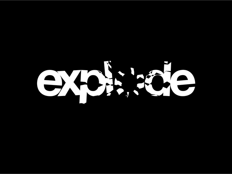 Type Studies 01 - Exploding Type