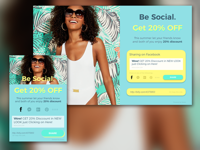 SHARING PAGE fashion palm discount pastel colours summer ui share social media shared lightbox sharing