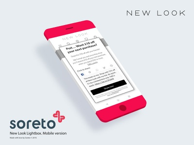 Referral Program for New Look ui lightbox confirmation page ecommerce design mobile ui mobile app design app design minimal web design interaction mobile red marketing referee referral