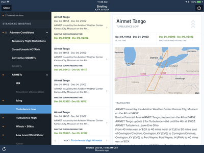 ForeFlight Graphical Briefing