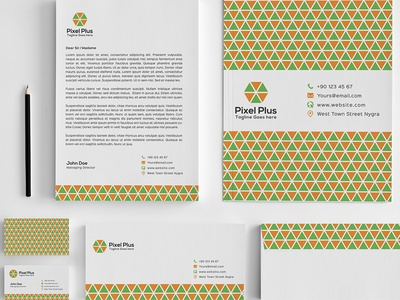 Pixel Plus Stationary pattern hexagon plus pixel stationary