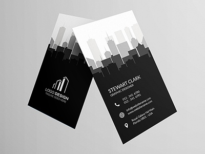 Real Estate Business Card 4 rent real premium market loan homes estate creative construction businesscard building black
