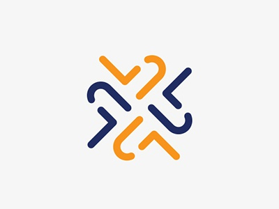 Lucy Blue branding minimal clean blue orange icon identity brand logotype lucyblue logodesign
