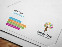 Business Card Happy Tree