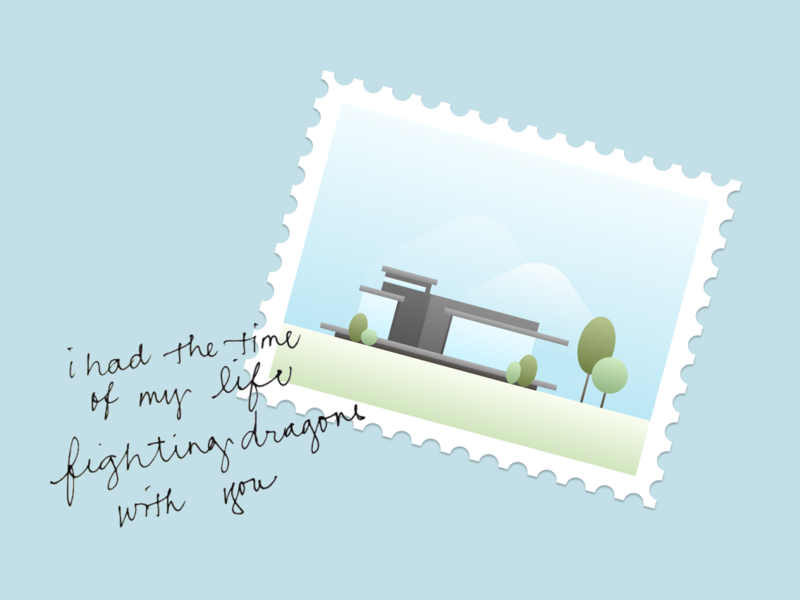 Building stamp illustration figma krvin quotes poster illustration stamp building