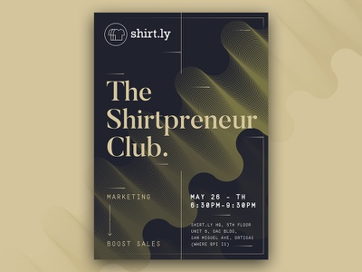 The Shirtpreneur Club Poster shirt graphic design minimal layout poster