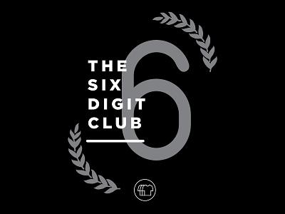 6 Digit Club Poster shirtly minimalist minimalism poster