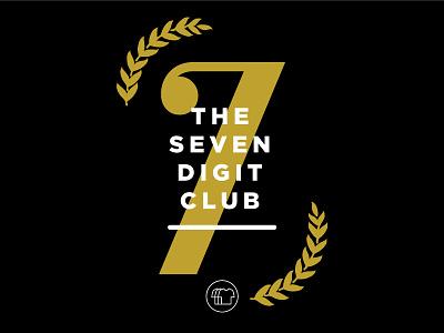 7 Digit Club Poster krvin layout shirtly poster minimalist minimalism