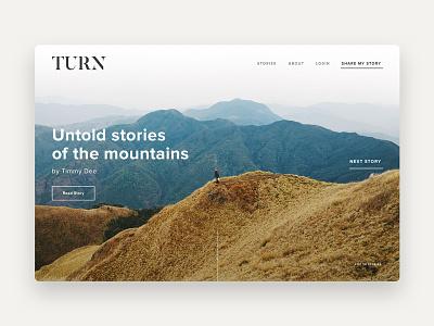 Turn - Homepage typography minimalist simple web design layout ui design ui
