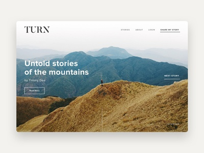 Turn - Homepage typography minimalist simple web design layout ui design ui