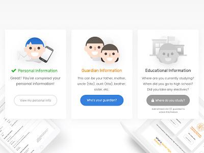 Edukasyon.ph Student Profile ux design ux form student profile illustrations icons minimal cards profile student education edukasyon.ph