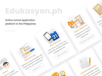 Edukasyon.ph Cards kervin tan krvin philippines ui design card design illustrations edukasyonph education