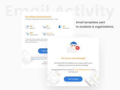 Edukasyonp.h Email Templates ui design philippines krvin kervin tan illustrations edukasyonph education card design