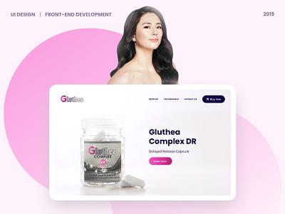 Gluthea Website jinri park philippines krvin kervin tan ui design web design glutathione gluthea