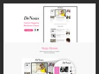 Landing Page Fashion Magazine
