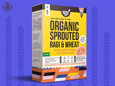 The First Porridge Packaging Version badge typogaphy risograph retro food porridge packaging brand identity vector illustration pattern icon
