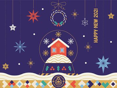 Happy New 2021 ollysweatshirt 2021 new year star snowball christmas