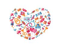 Love Icon Mosaic