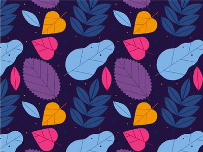 Leaves Pattern Dark seamless pattern vector art leaves summer autumn nature oak