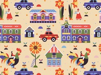 Russian Village Pattern for Gabo and Mateo Designs