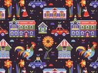 Alt Color Russian Village Pattern For Gabo   Mateo Designs