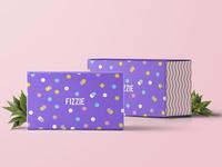 Fizzie Bath Bombs Package Design